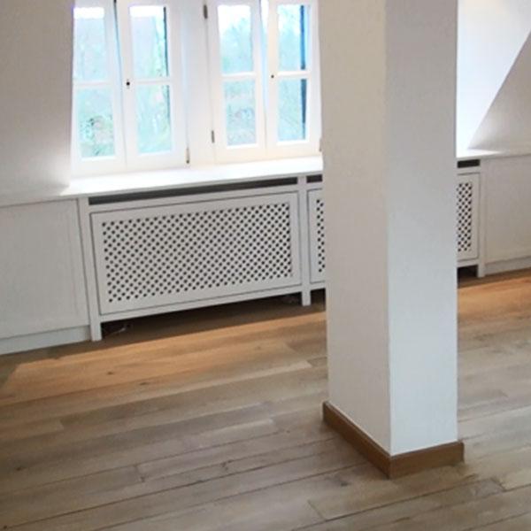 Heizkörperverkleidung Holz weiß