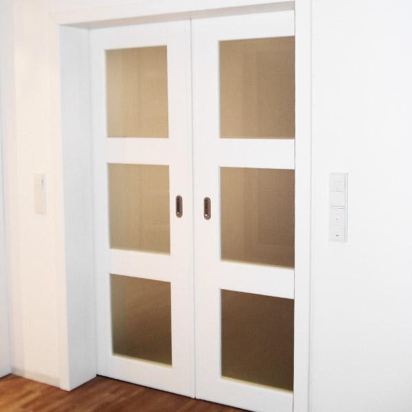 Holztür Wohnung weiß